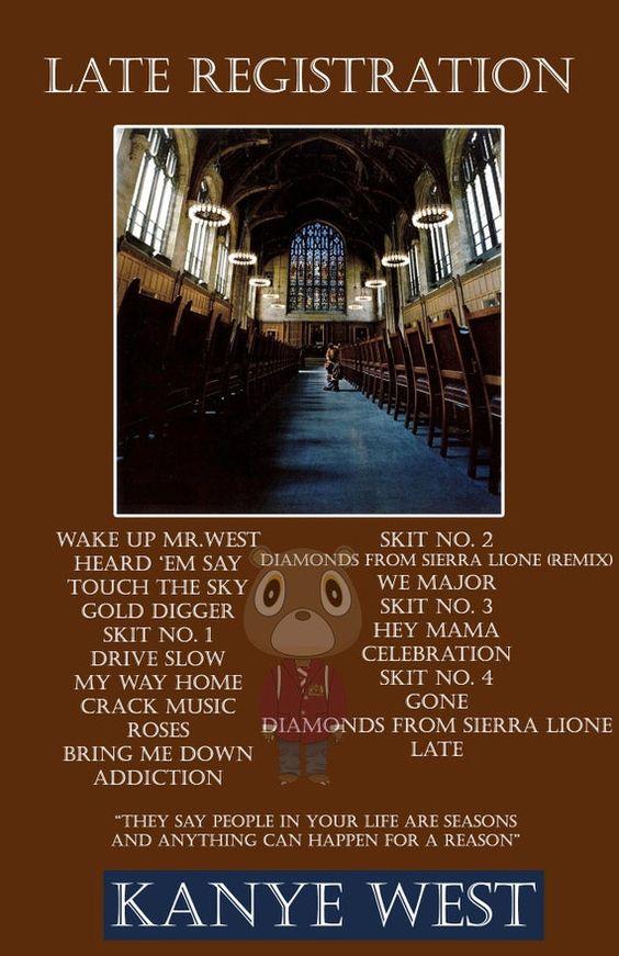 Late Registration Poster Kanye West Poster Album Art Etsy Late Registration Album Art Hip Hop Poster