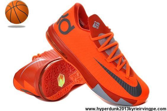 Latest Listing Cheap 599424-800 Womens Nike KD VI Total Orange/Armory Slate-Team Orange-Armory Blue Basketball Shoes Store
