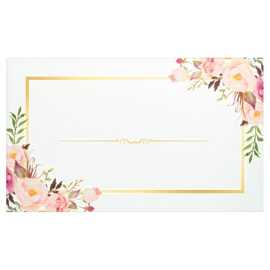 Elegant Chic Floral Gold Frame Wedding Party Banner Zazzle Com