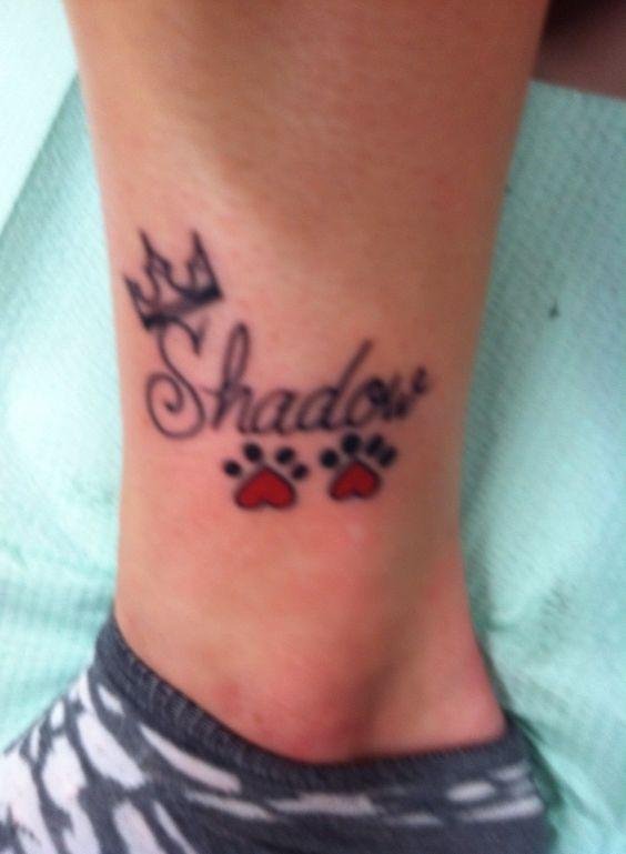 Poor image quality simple pet memorial tattoo for my for Pet memorial tattoos