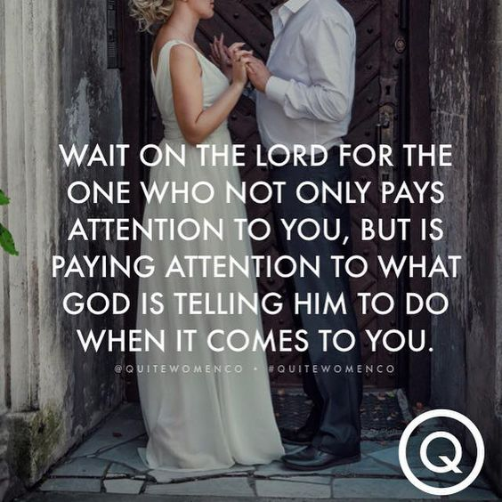 If you desire to be married in a way that brings God glory, make sure your standards bring God glory. Let the attributes you look for in a godly spouse be far more focused on godly things than material things. And most importantly, set your eyes on things ABOVE**! The more you do this the less you will focus on all of the material things and more on what GOD has ahead for you! -via Quite Women Co <3: