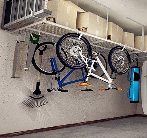 Fleximounts 4x8 Overhead Garage Rack With Add On Hooks Set Heavy