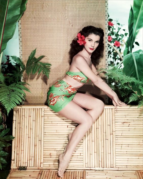 Debra Paget, I would kill for that bathing suit!: