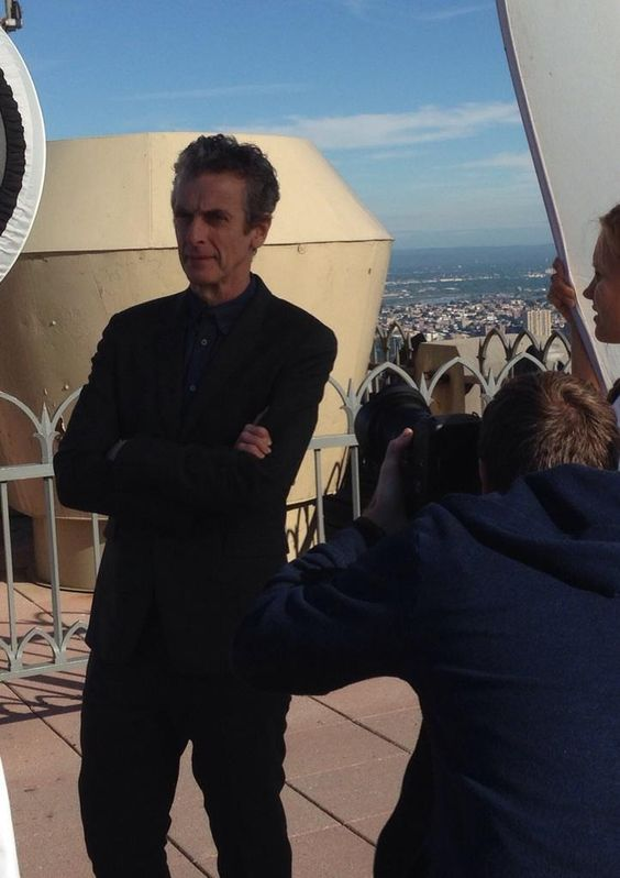 PopCandy's Whitney Matheson posted this photo from her interview with Peter Capaldi. So awesome. | Embedded image permalink