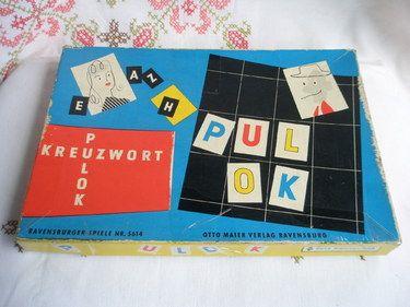 Vintage Spiel ** Kreuzwort PULOK