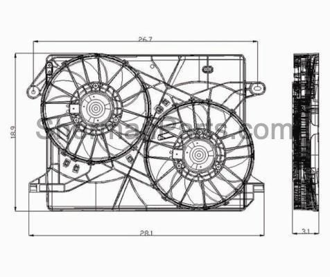 2005 2010 Chrysler 300 Radiator Fan Assembly Radiator Fan Electric Cooling Fan 2010 Chrysler 300