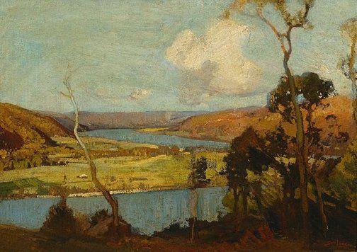 Hawkesbury landscape by Sydney Long