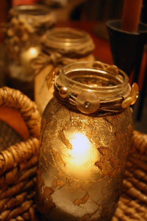 lace candle jars & the site has lots of crafts