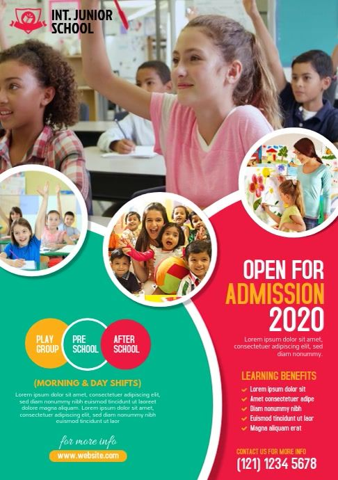 Junior School Flyer Template In 2020 Admissions Poster School Posters Education Poster Design