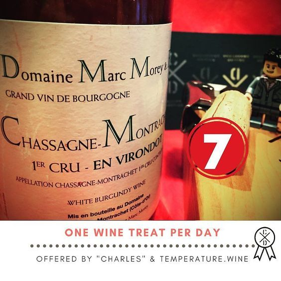 The #adventcalendar for #serious #winelovers  The #wine treat of day 7 before #christmas : In #chassagnemontrachet #burgundy is no place for bad/cheap #whitewine !!! #marcmorey #whiteburgundy #chardonnay Hold it 3-10 years in your #winecellar!