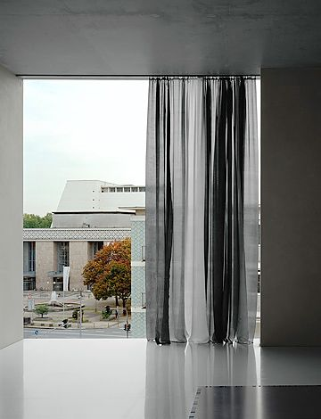 Curtains art museum and sheer curtains on pinterest for Painting sheer curtains
