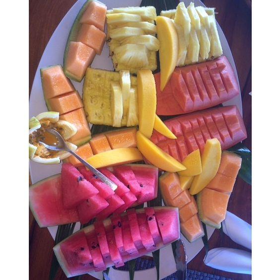 Fruits Salad Watermelon Pineapple Healthy Living