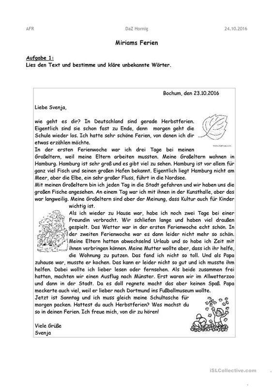 Briefe Schreiben Brief Deutsch Briefe Schreiben Und