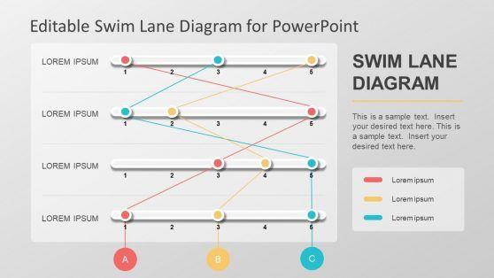 Editable Swim Lane Diagram For Powerpoint Powerpoint Powerpoint Slide Designs Powerpoint Design