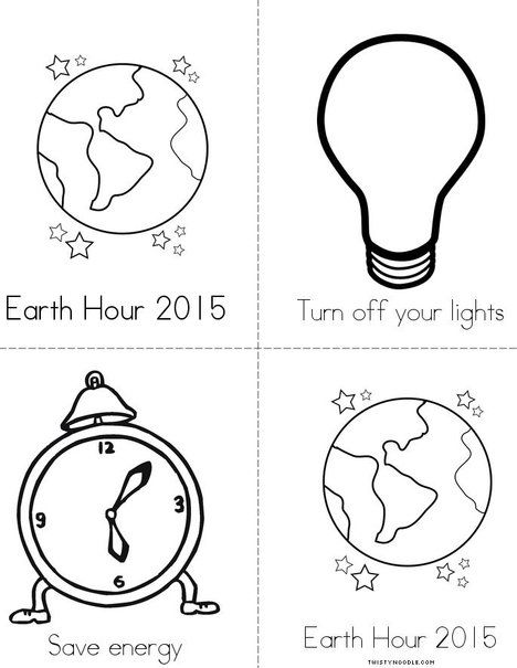Earth Hour 2015 Book from TwistyNoodle.com