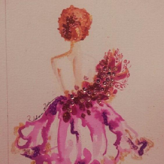 #balerina #girl #delicate #brasil #watercolor #bailarina #art #design #illustration instagram:@rubianareolon