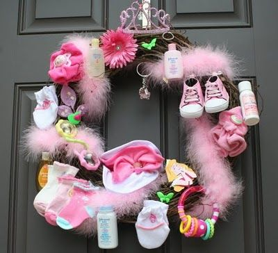 Cute Idea, fill it with items for the mommy-to-be. I have some cute ideas for something like this! :)