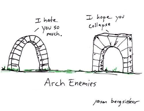arch enemies.