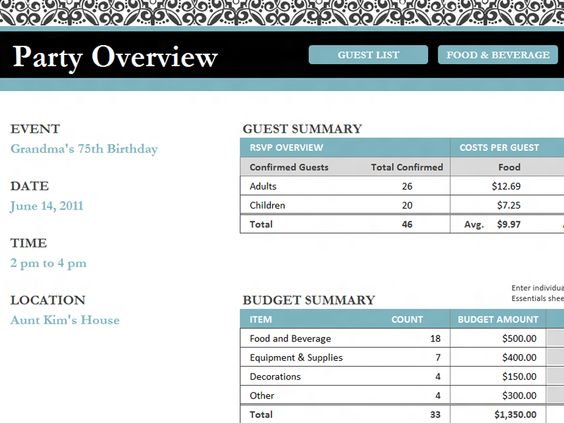 Doc644499 Event Guest List Template Guest List Management – Event Guest List Template