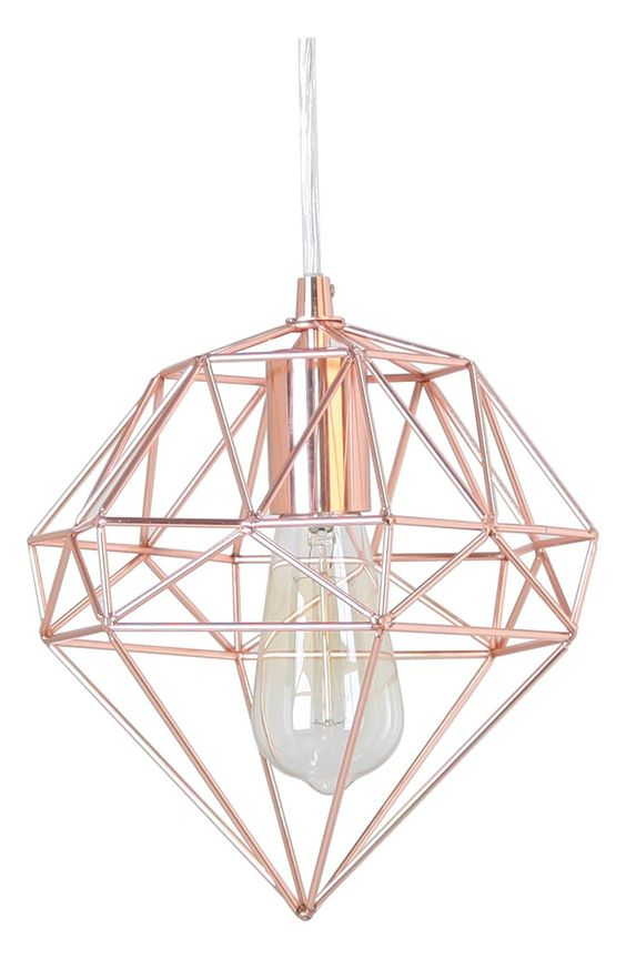 Hanging lamps rose gold and gems on pinterest - Artistic d lamp shade designed with modern and elegant shape style ...