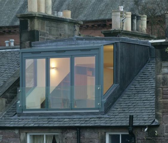 maison moderne avec toit carr - Lucarne Moderne Et Toit Tuile