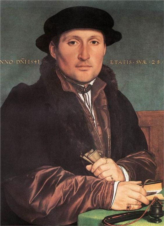 Unknown Young Man at his Office Desk, 1541  Hans Holbein the Younger extraordinario retratista