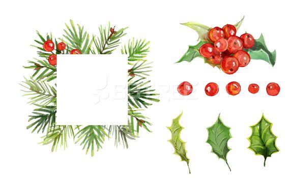 크리스마스 빨간열매 호랑가시나무 열매 입니다 크리스마스카드 O181204a Ok1004 일러스트 꽃 강렬한 빨간색 레드 나뭇잎 잎사귀 초록색 프레임 카드 적색 자연 분홍 고마움 축하 아트 싱그러움 붉다 디자인 그 크리스마스 카드 크리스마스 꽃