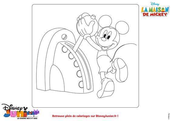 Coloriage de mickey la maison de mickey disney a vos crayons pinterest disney - Coloriage maison de mickey ...