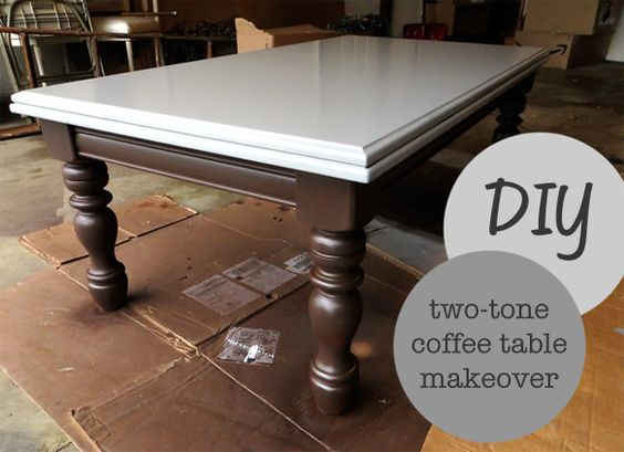Little Nostalgia Diy Two Tone Coffee Table Craft Projects And Furniture Makeovers