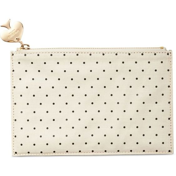 kate spade new york Pencil Pouch (£20) ❤ liked on Polyvore featuring home, home decor, office accessories, accessories, bags, stationary, black dots, ebony pencil, kate spade pencil pouch and black pencil case
