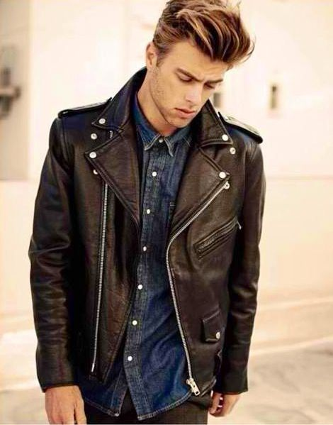 Men&39s Fashion: Brown Leather Jacket &amp Denim Shirt. | Men&39s Fashion