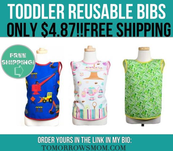 Grab the kids some craft/play/eating time bibs. Only $4.87 after 30% OFF Promo CodeClick link in my bio @tomorrowsmom -read . . See blog post for full details.   follow the link in my Bio a@Tomorrowsmom at TomorrowsMom.com #tomorrowsmom .  #frugal #savings #deals #cosmicmothers #feminineenergy #loa #organic #fitmom #health101 #change #nongmo #organiclife #crunchymama #organicmom #gmofree #organiclifestyle #familysavings #frugal #healthyhabits #lifechanging #fitpeople #couponcommunity…