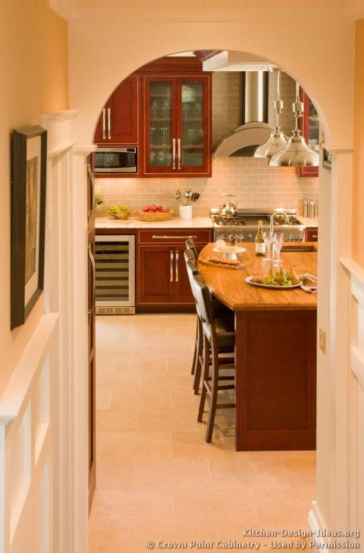 Traditional Dark Woodcherry Kitchen Cabinets #27 Kitchendesign Adorable Cherry Kitchen Design Review