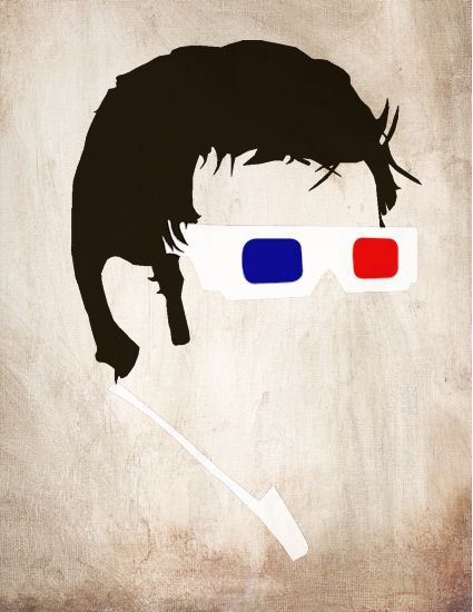 Minimalist Doctor Who Poster - The 10th Doctor (3D Glasses)