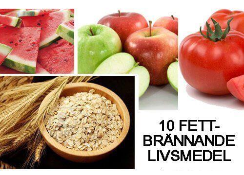 mat för fettförbränning