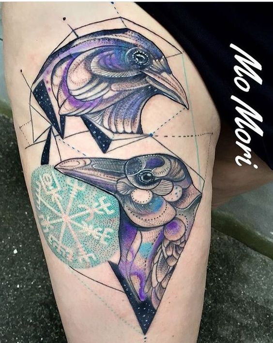 Mo Mori ink Raven tattoo