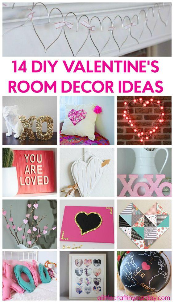 14 valentine 39 s room decor ideas crafts valentines and for Valentines room decor