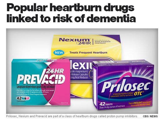 Popular Heartburn Drugs Linked To Risk Of Dementia