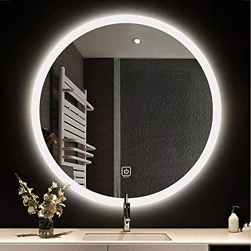 New Bolen 24 Round Wall Mounted Light Mirror Led Bathroom Mirror Makeup Mirror Wall Mounted Mirror Intelligent Touch 2 Led Lights Wight Light Warm Light Onli In 2020 Led Mirror Bathroom Wall