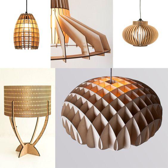 Lamparas con corte laser para decoracion madera con - Decoracion con lamparas ...