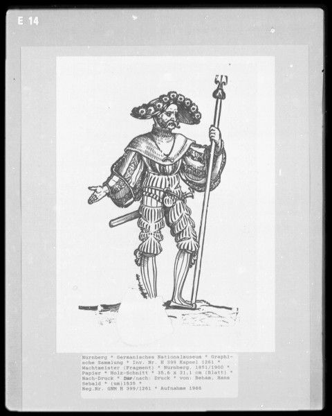 Landsknecht Woodcuts   Germanisches Nationalmuseum plate E14