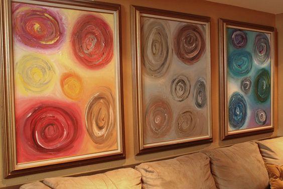DIY Swirl Paintings