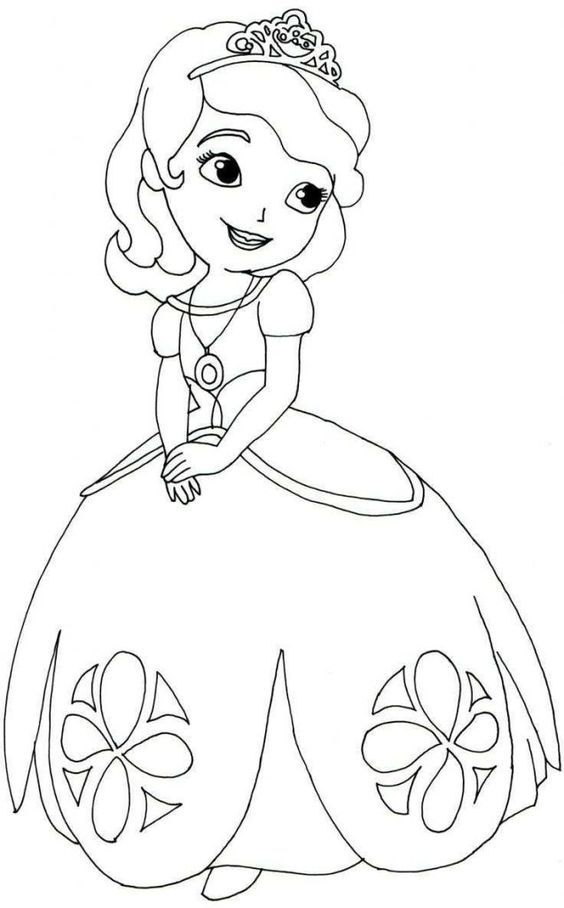 - Princess Sofia The First Coloring Pages Princess Coloring Pages, Disney  Coloring Pages Printables, Disney Coloring Pages