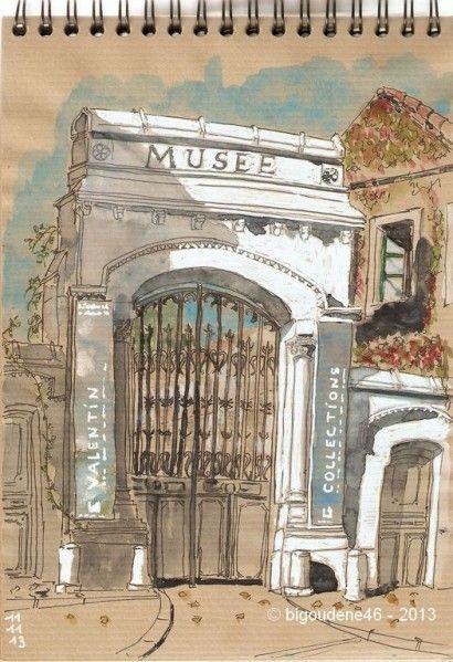 carnet de voyage au musée Valentin