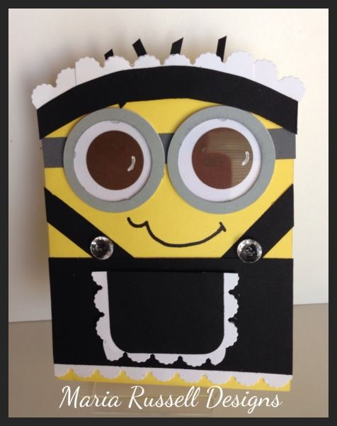 French Maid Minion Card-A Blooms & Butterflies Color Challenge No. 22 -  Maria L Russell, Daffodil Delight, Smoky Slate, Basic Gray and Basic Black.     This is already posted on my blog and I have a YouTube video tutorial posted on my YouTube channel.