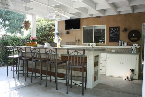 Outdoor Kitchen...wow! Sign me up for one of these. via The Logan's Landing