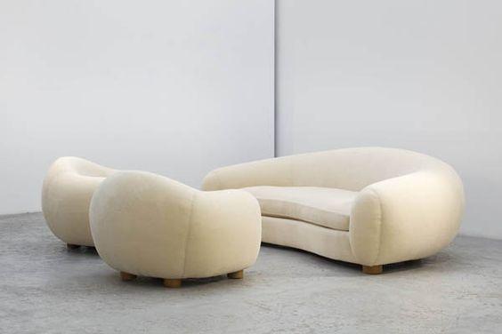 ensemble de fauteuils Ours Polaire de Jean Royère (1949) Furnish - casa borbonese designer sitzmobel