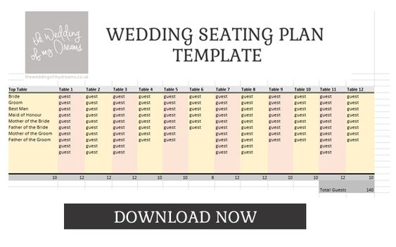 Wedding Seating Plan Template \ Planner u2013 FREE Download - free wedding seating chart templates