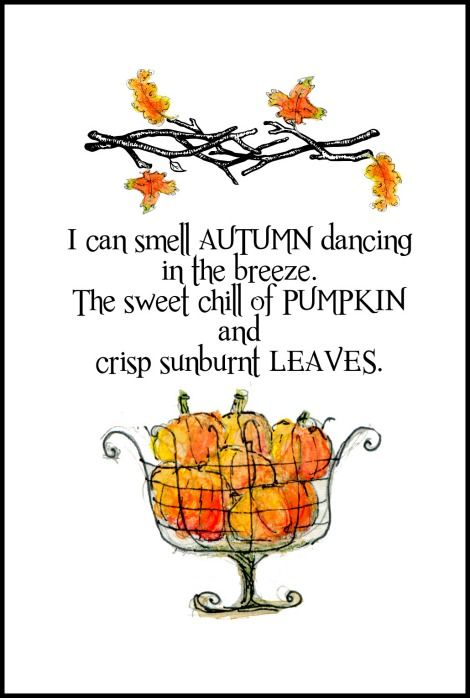 Perfection. I can smell Autumn Free Printable | On Sutton Place