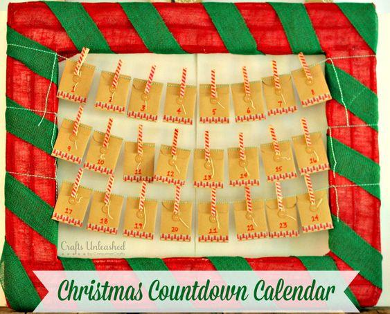 Handmade Calendar Tutorial : Countdown calendar diy for christmas crafts unleashed